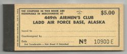 Ladd Air Force Base Scrip Book